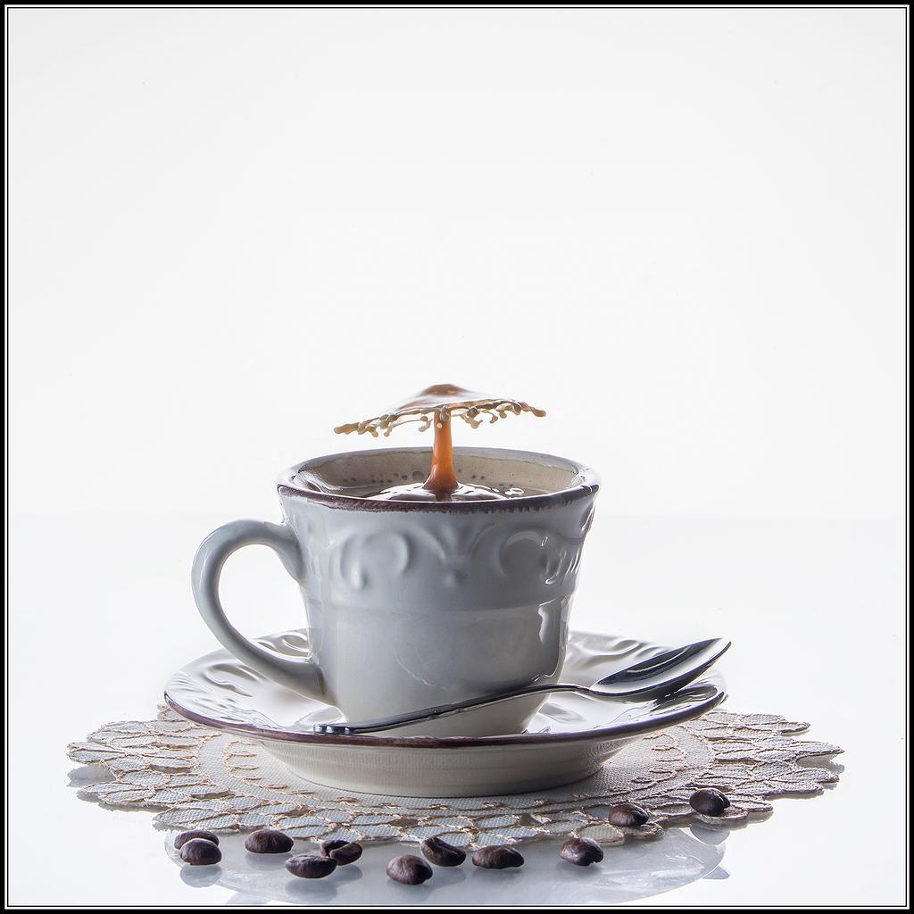 Un café con unas gotas