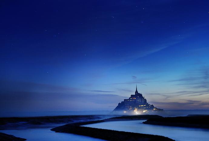 Magic night at Mont Saint Michel