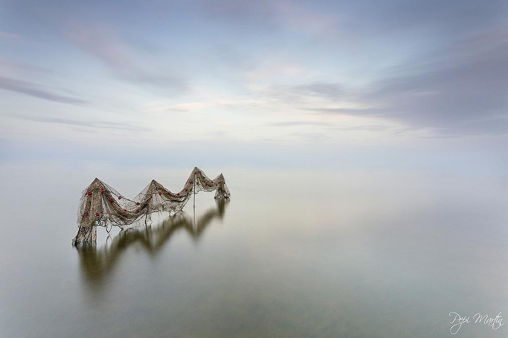 Redes en el Delta del Ebro
