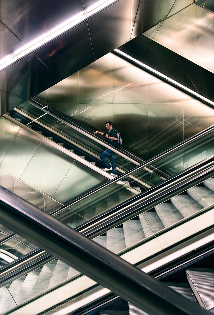 Cruce de escaleras