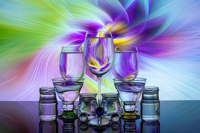 Bodegón cristal molinete