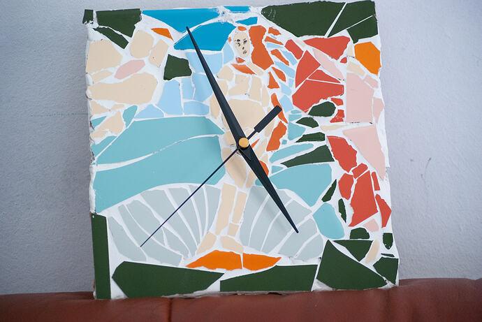 reloj mosaico boticheli